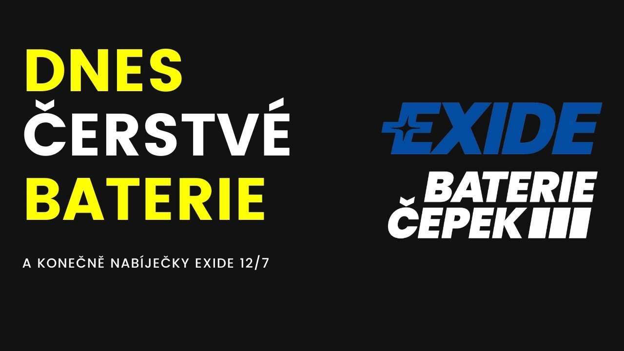 VIDEO - Čerstvé EXIDE, nový design a EXIDE 12/7!