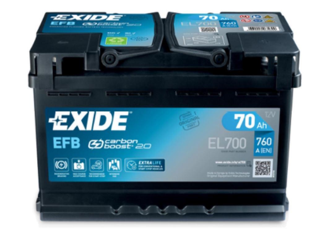 Nové parametry autobaterií EXIDE EFB