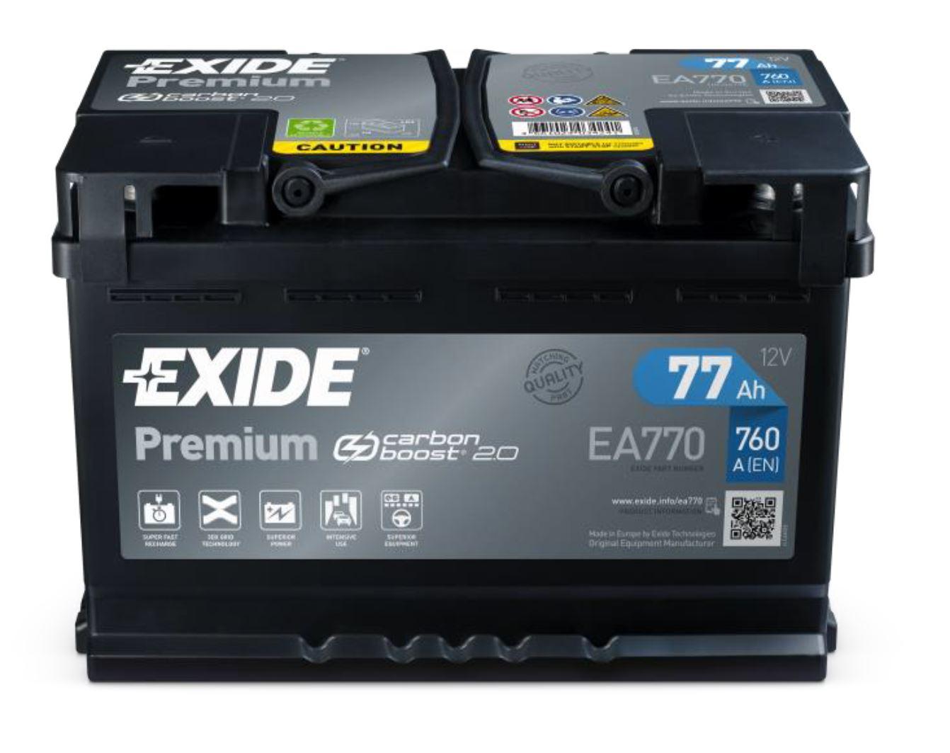 Nový design autobaterií EXIDE Premium