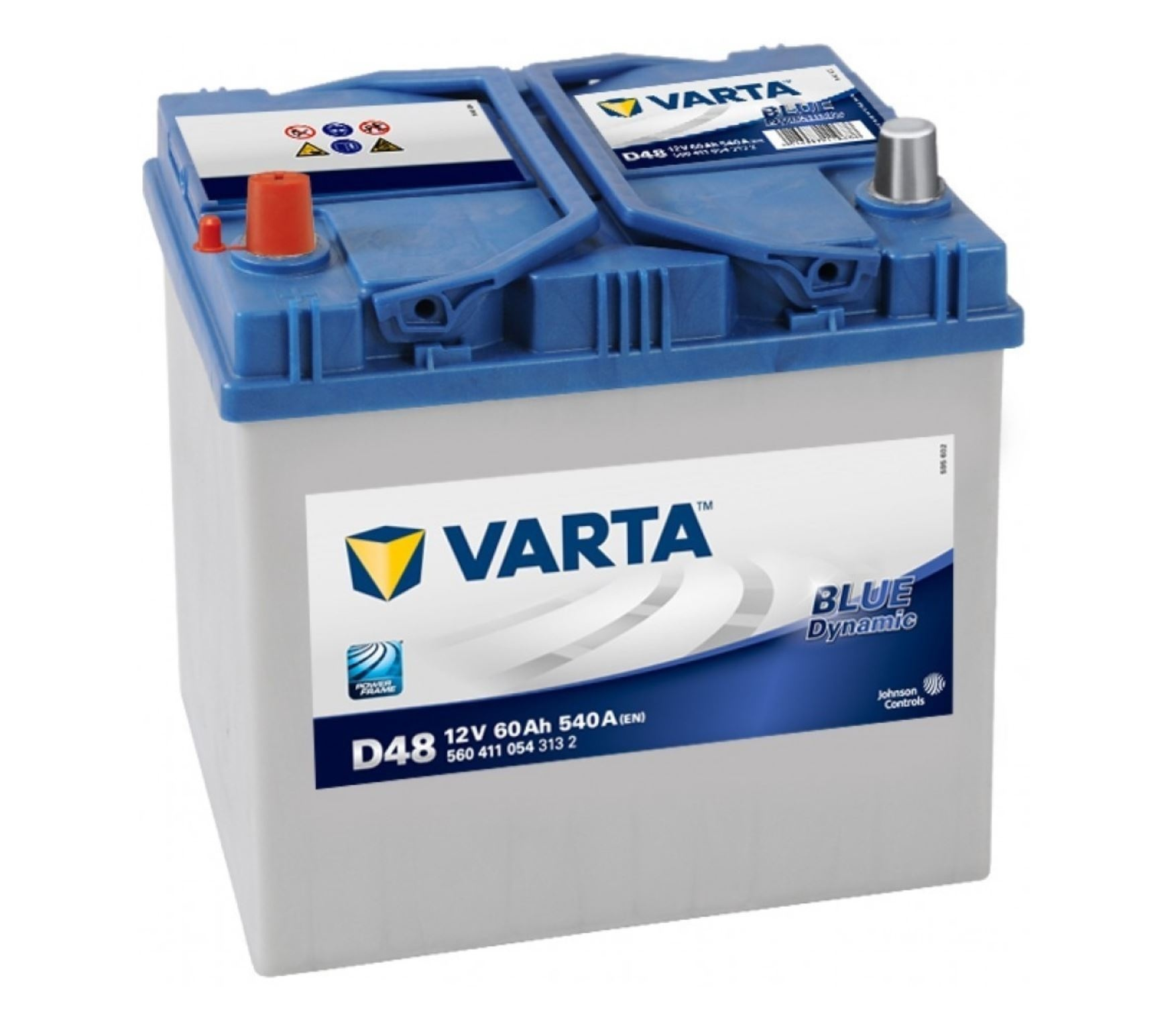 Varta Blue Dynamic 12V 60Ah 540A - PLUS vlevo D48