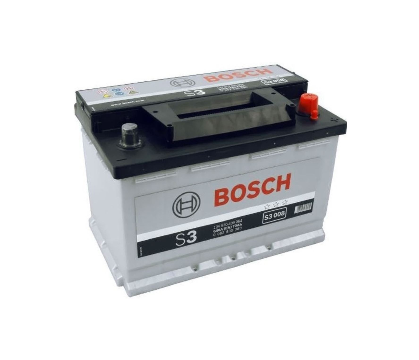 Autobaterie Bosch S3 12V 70Ah 640A