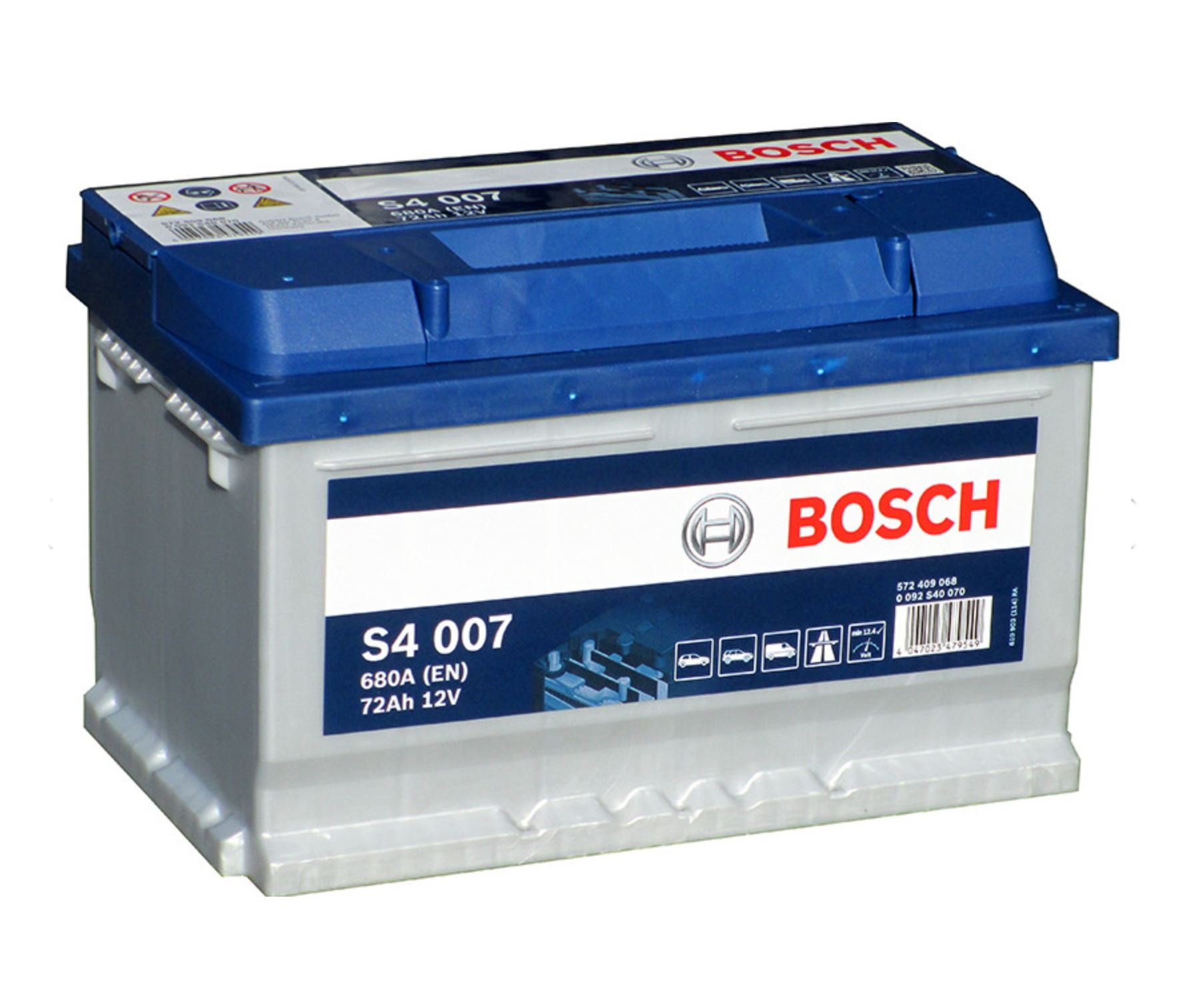 Autobaterie Bosch S4 12V 72Ah 680A