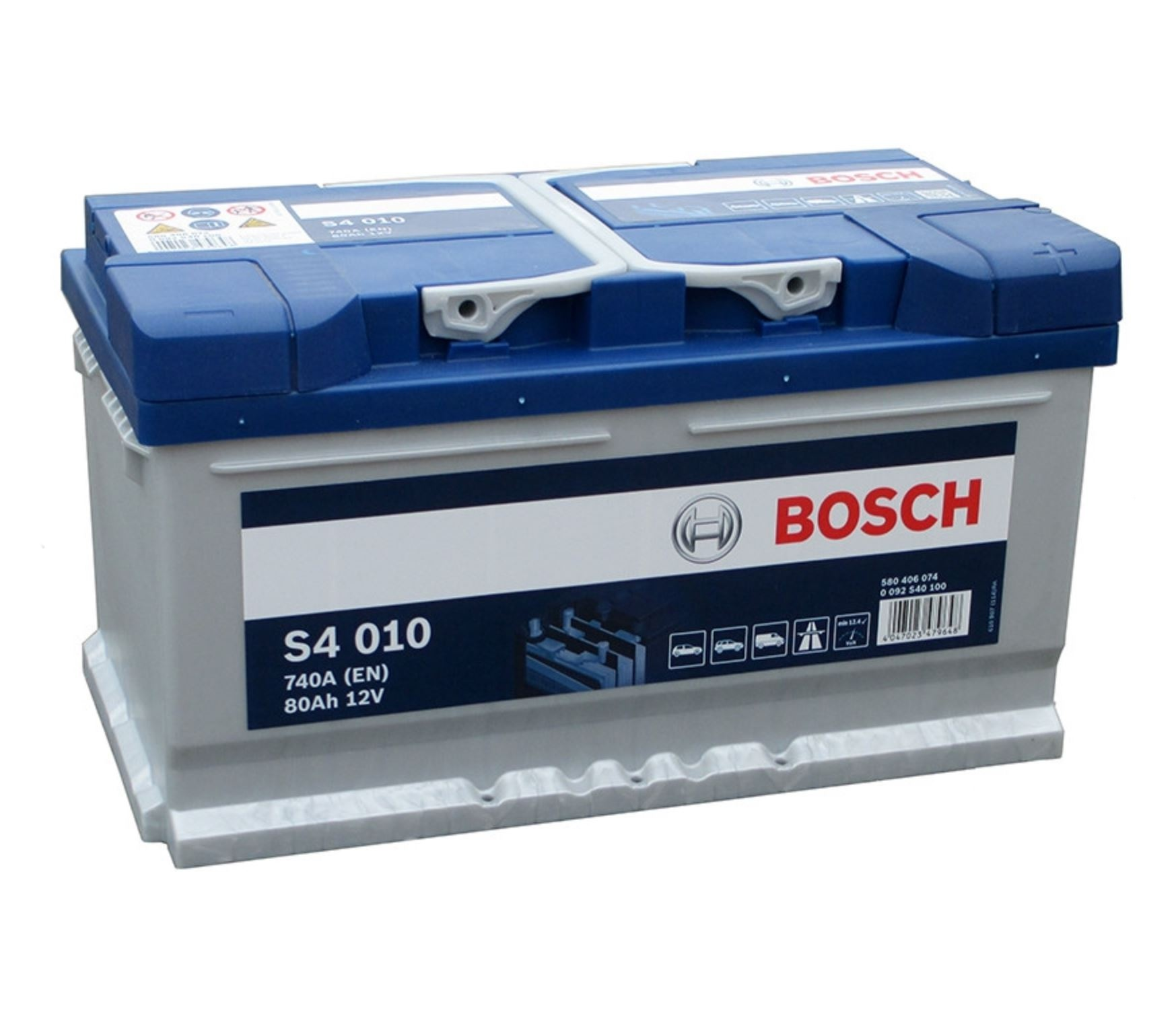 Autobaterie Bosch S4 12V 80Ah 740A S4 010