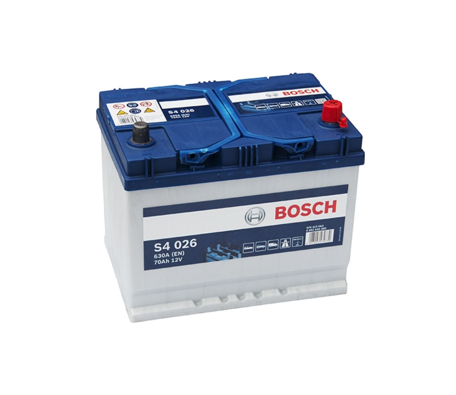 Autobaterie Bosch S4 12V 70Ah 630A